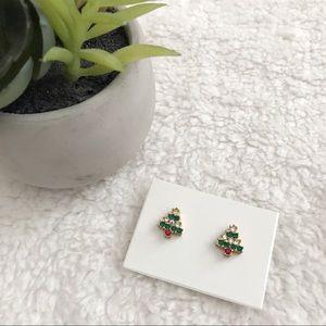 Vintage Christmas tree earrings
